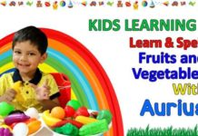 Learn Spell Fruit and Vegetables with Aurius